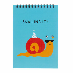 "Snailing It by Fugly Friends - 5"" X 7"" Notepad"