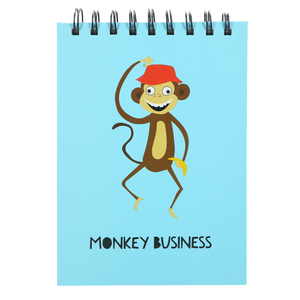 "Monkey Business by Fugly Friends - 5"" X 7"" Notepad"