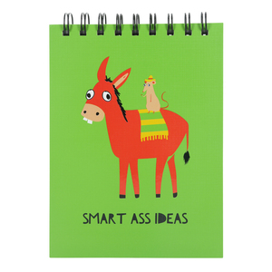 "Smart Ass  by Fugly Friends - 5"" X 7"" Notepad"