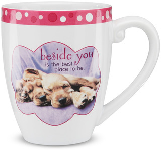 "Beside you by Shaded Pink - 4.75"" Mug"