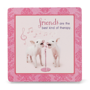 "Friend by Shaded Pink - 3.5"" x 3.5"" Standing Plaque"