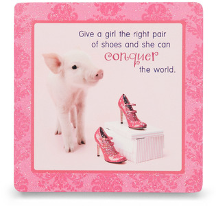 "Shoes by Shaded Pink - 3.5"" x 3.5"" Standing Plaque"