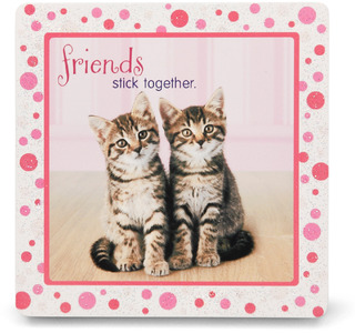 "Friends by Shaded Pink - 3.5"" x 3.5"" Standing Plaque"