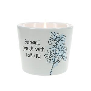 Positivity by Faith Hope and Healing - 8 oz - 100% Soy Wax Candle Scent: Tranquility