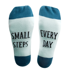 Small Steps by Faith Hope and Healing - S/M Unisex Sock