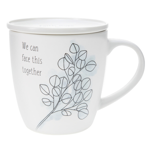 Face This Together by Faith Hope and Healing - 17 oz Cup with Coaster Lid