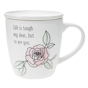 Life is Tough by Faith Hope and Healing - 17 oz Cup with Coaster Lid