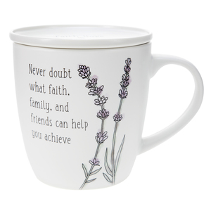 Never Doubt by Faith Hope and Healing - 17 oz Cup with Coaster Lid