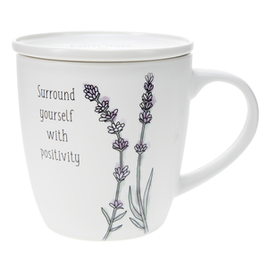 Positivity by Faith Hope and Healing - 17 oz Cup with Coaster Lid