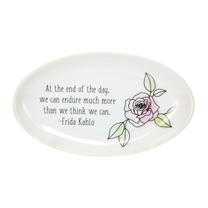 "We Can Endure by Faith Hope and Healing - 5.5"" x 3.25"" Keepsake Dish"
