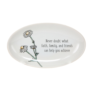 "Never doubt by Faith Hope and Healing - 5.5"" x 3.25"" Keepsake Dish"
