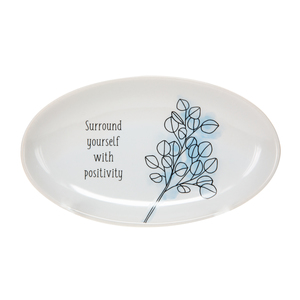 "Positivity by Faith Hope and Healing - 5.5"" x 3.25"" Keepsake Dish"