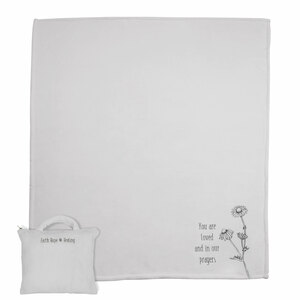 "You are Loved by Faith Hope and Healing - 50"" x 60"" Travel Blanket with Carry Case"