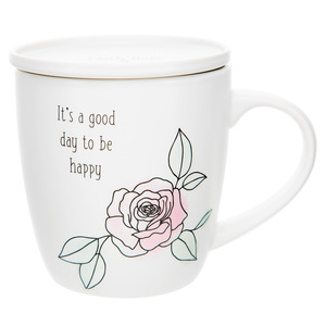 Good Day by Faith Hope and Healing - 17 oz Cup with Coaster Lid
