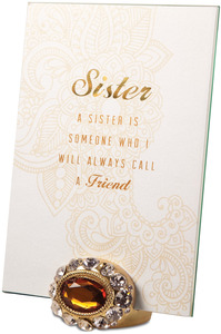 "Sister by Simply Shining - 5""x7"" Jeweled Photo Frame"