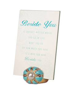 "Beside You by Simply Shining - 4""x6"" Jeweled Photo Frame"