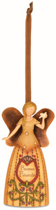 "Forever Friends by Country Soul - 4.5"" Angel Holding Dove Ornament"