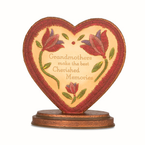 "Cherished Memories by Country Soul - 4.5""x4.5"" Heart Plaque"