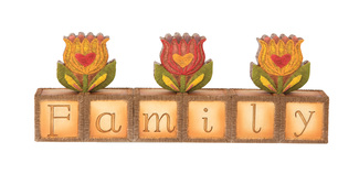 "Family by Country Soul - 7.5""x2.75"" Block Plaque"