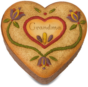"Grandma by Country Soul - 3.5"" x 3.5"" Heart Keepsake Box"
