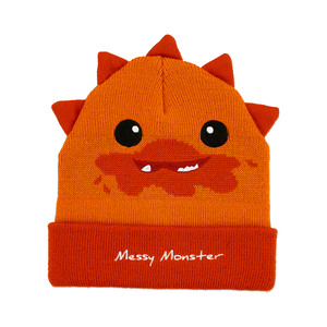 Orange Messy Monster by Monster Munchkins - One Size Fits All Baby Hat