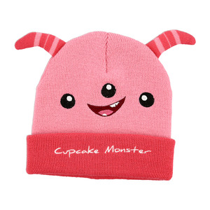 Pink Cupcake Monster by Monster Munchkins - One Size Fits All Baby Hat