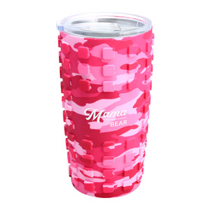 Mama Bear by Camo Community - 20 oz Travel Tumbler with 3D Silicone Wrap