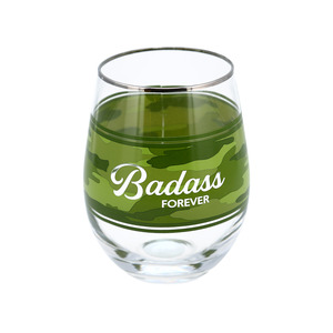 Badass by Camo Community - 18 oz Stemless Wine Glass