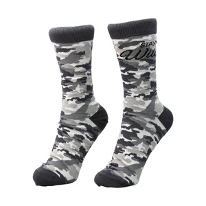 Stay Wild by Camo Community - S-M Cotton Blend Sock