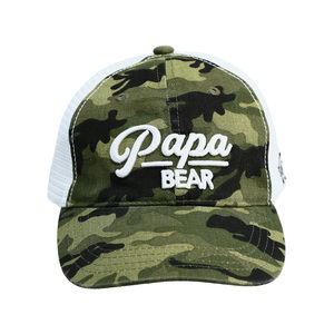 Papa Bear by Camo Community - Green Camo Adjustable Mesh Hat