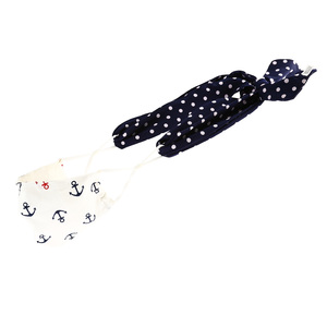 "Newport Navy Dot Mask Ties-Set of 2 by Tuso - 48"" x 2.5"""