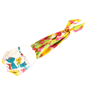 "Sweet Tart- Mask Ties-Set of 2 by Tuso - 48"" x 2.5"""
