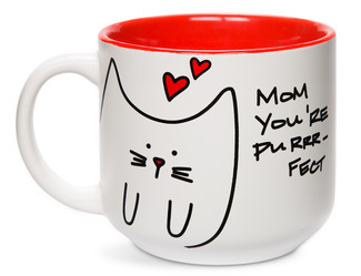 Mom by Blobby Cat - 18oz Ceramic Mug