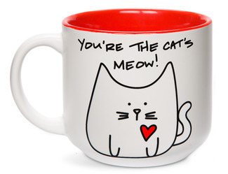 Cat's Meow by Blobby Cat - 18oz Ceramic Mug