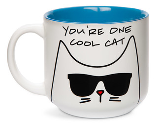 Cool Cat by Blobby Cat - 18oz Ceramic Mug