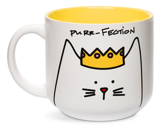 Princess Cat by Blobby Cat - 18oz Ceramic Mug