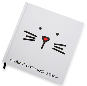 "Meow by Blobby Cat - 8"" x 8"" Journal"