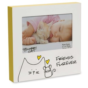 "Friend by Blobby Cat - 7"" Frame (Holds 6"" x 4"" Photo)"