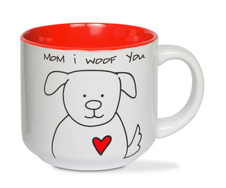 Mom by Blobby Dog - 18 oz Ceramic Mug