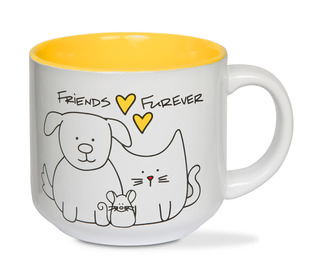 Friends by Blobby Dog - 18 oz Ceramic Mug
