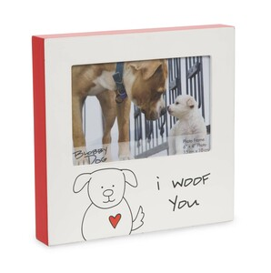 "I Woof You by Blobby Dog - 7"" Frame (Holds 6"" x 4"" Photo)"