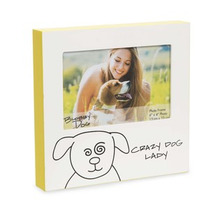 "Crazy Dog Lady by Blobby Dog - 7"" Frame (Holds 6"" x 4"" Photo)"