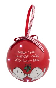 Mistle-tail by Blobby Dog - 100 MM Blinking Ornament