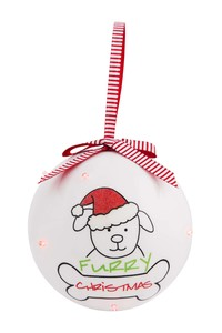 Christmas by Blobby Dog - 100 MM Blinking Ornament