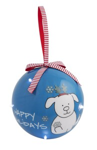 Howlidays by Blobby Dog - 100 MM Blinking Ornament