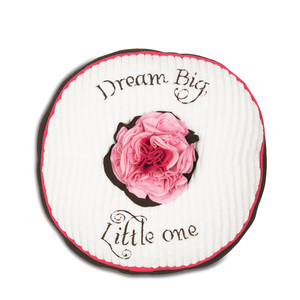 "Strawberry Sundae by Itty Bitty & Pretty - 12"" Round Pillow"