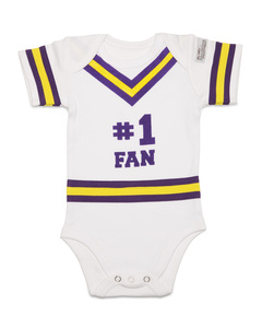 Purple & Gold by Itty Bitty & Pretty - 0-6 Months Infant Onesie