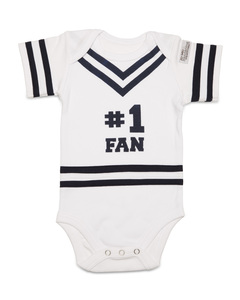 Navy & White by Itty Bitty & Pretty - 0-6 Months Infant Onesie