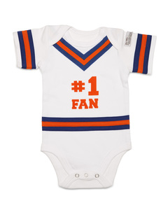 Blue & Orange by Itty Bitty & Pretty - 0-6 Months Infant Onesie