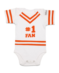 Orange & White by Itty Bitty & Pretty - 0-6 Months Infant Onesie